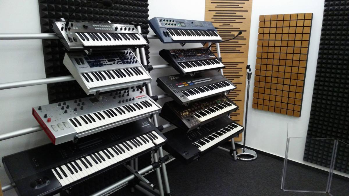 Wall of Synthesizers